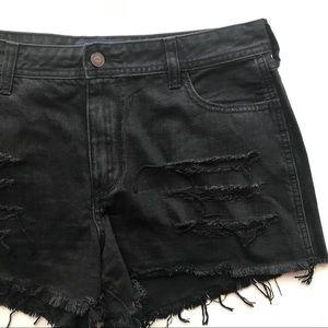 Hollister Black High Rise Jean Shorts Size 31